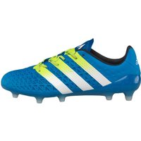 adidas Mens Ace 16.1 FG/AG Football Boots Shock Blue/White/Semi Solar Slim