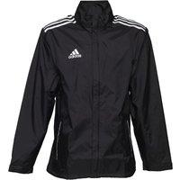 adidas Mens Core 11 Rain Jacket Black/White