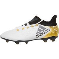 adidas Mens X 16.2 FG Football Boots White/Core Black/Gold Metallic