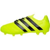 adidas Mens ACE 16.3 FG Leather Football Boots Solar Yellow/Core Black/Silver Metallic