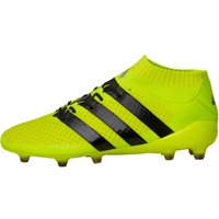 adidas Mens ACE 16.1 Primeknit FG Football Boots Solar Yellow/Core Black/Silver Metallic