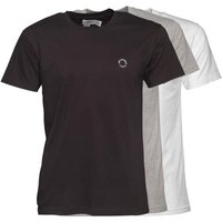Ben Sherman Mens Theo Three Pack T-Shirt Black/White/Grey