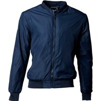 Brave Soul Mens Padded Bomber Jacket Navy