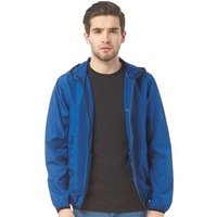 Brave Soul Mens Lightweight Hooded Windrunner Jacket Cobalt Blue