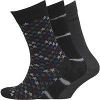 Converse Mens Three Pack Crew Socks Black/Charcoal/Multi