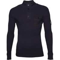 Crosshatch Mens Pendalton Knitted Jumper Navy Blazer