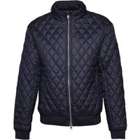 Crosshatch Mens Ceelowe Quilted Bomber Jacket Total Eclipse