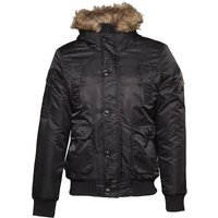 Crosshatch Mens Eppingen Bomber Jacket Black