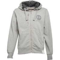 Crosshatch Mens Grabble Borg Line Zip Thru Hoody Grey Marl