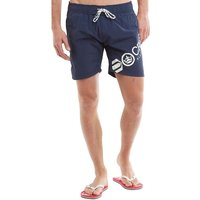 Crosshatch Mens Makins Swim Shorts Total Eclipse