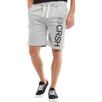 Crosshatch Mens Janter Jersey Shorts Light Grey Marl