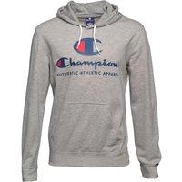 Champion Mens Large Logo Pullover Hoody Grey Marl