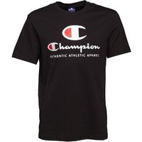 Champion Mens Large Logo T-Shirt Black