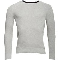 Diesel Mens K-Alby Knitwear Jumper Light Grey Melange
