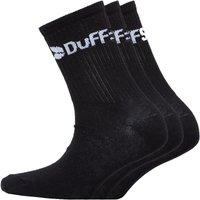 DuFFS Junior Three Pack Classic Socks Black