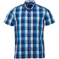 Duck and Cover Mens Rebel Short Sleeve Check Shirt Twilight