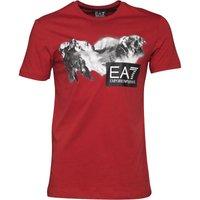 EA7 Mens T-Shirt Red