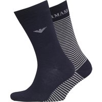 Emporio Armani Mens Two Pack Socks Navy