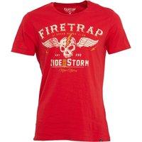 Firetrap Mens Highway T-Shirt True Red