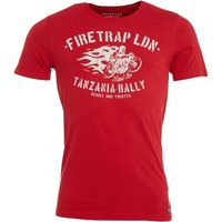 Firetrap Mens Leo T-Shirt True Red
