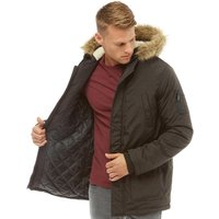 Fluid Mens Parka Jacket Black