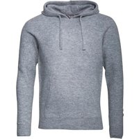 Fluid Mens Knitted Hoody Mid Grey Marl