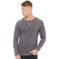 Fluid Mens Long Sleeve Jersey Top Charcoal