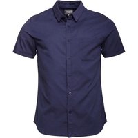 Fluid Mens Slub Short Sleeve Shirt Navy