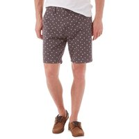 Fluid Mens AOP Twill Shorts Charcoal/White