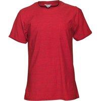 Fluid Mens Striped T-Shirt Red/Navy