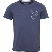 Fluid Mens Printed Pocket T-Shirt Indigo Marl