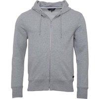 Fluid Mens Fleece Zip Through Hoody Grey Marl