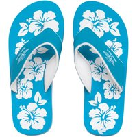 Board Angels Womens EVA Toe Post Sandals Turquoise/White