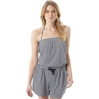 Board Angels Womens Striped Playsuit Navy/White