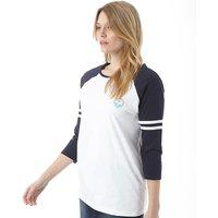 Board Angels Womens 3/4 Sleeve Raglan Top White/Navy