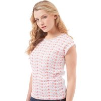 Board Angels Womens Embroidered Sleeveless Top White
