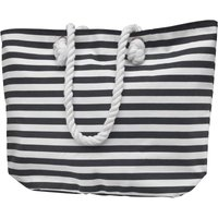 Board Angels Womens Striped Canvas Beach Bag White/Navy