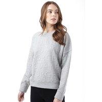 Jacqueline De Yong Womens Maki Long Sleeve Sweatshirt Light Grey Melange