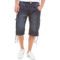 J2 Mens Yanka Denim Cargo Shorts Blue