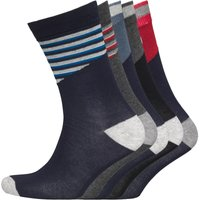 JACK AND JONES Mens Five Pack Socks Multi