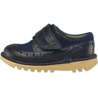 Kickers Infant Boys Longwing Leather Shoes Dark Blue