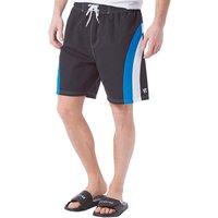 Kangaroo Poo Mens Panelled Swim Shorts Black
