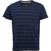 Kangaroo Poo Mens Yarn Dyed Striped T-Shirt Navy