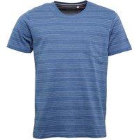 Kangaroo Poo Mens Yarn Dyed Striped T-Shirt Light Blue Marl
