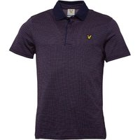 Lyle And Scott Vintage Mens Greenlaw Birdseye Check Polo Navy
