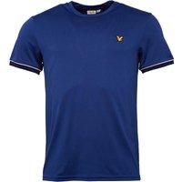Lyle And Scott Vintage Mens Ainslie Piping T-Shirt Saltire Blue