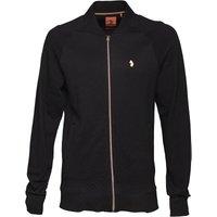 LUKE 1977 Mens Stop Waffling Zip Through Sweatshirt Black