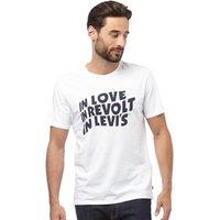 Levis Mens Graphic T-Shirt Woodmark White