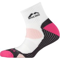 More Mile Womens London Cushioned Running Socks White/Pink