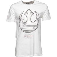Star Wars Mens Rebel Ship Icon T-Shirt White